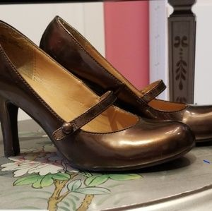 Copper colored Mary Jane pumps